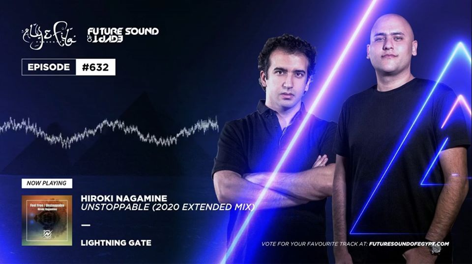 "Aly & Fila supported ""Hiroki Nagamine – Unstoppable (2020 Extended) [Lightning Gate(R135)]"""